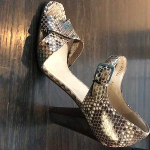 Cole Han collection python heels.